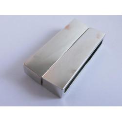 1x silber Magnet Verschluss II.Wahl 38x19x7mm silber Einklebverschluss - Schmuckzubehör Schmuckverschluss