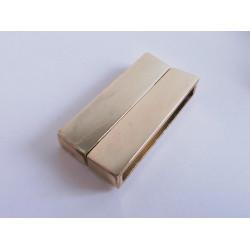 1x KC gold Magnet Verschluss 38x19x7mm light rosegold Einklebverschluss - KC gold Schmuckzubehör