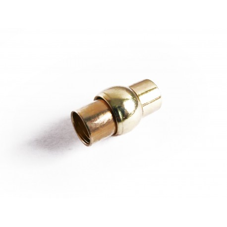 1x gold Magnet Verschluss 16,5x9mm gold Verschluss zum Einkleben Zylinder - gold Schmuckzubehör