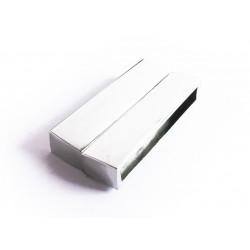 1x silber Magnet Verschluss 38x19x7mm silber Einklebverschluss - Schmuckzubehör Schmuckverschluss