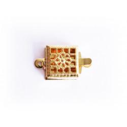 1x gold Kastensteckverschluss 14,5x8,5x3,5mm gold Kastenverschluss gold Steckverschluss - Schmuckzubehör Schmuckverschluss