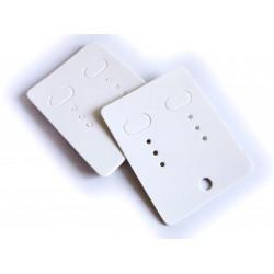 20 weisse Schmuckkarten 65x50mm Papier ohne Schrift Schmuck Display Ohrringe - Schmuckzubehör