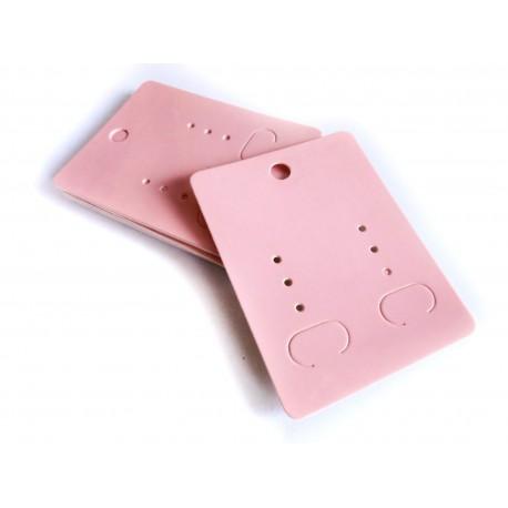 20 rosa Schmuckkarten 65x50mm Papier ohne Schrift Schmuck Display Ohrringe - Schmuckzubehör