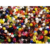 20g Mix aus bunten Rocailles 1,5mm im bunten Perlenmix - Schmuckzubehör Rocailles
