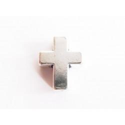 1x silber Kreuz Metallperle 15x12x5mm silberfarbenes dickes Kreuz Metall Spacer - Schmuckzubehör Metallperlen