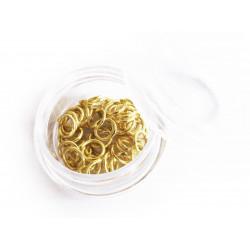 50x gold Biegering 6mm Stärke 0,8mm rund als goldfarbene Biegeringe - Schmuckzubehör Biegering