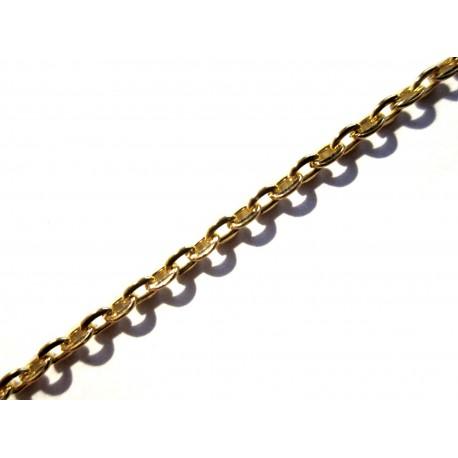10m vergoldete Kette 3x2mm gold Gliederkette - gold Schmuckzubehör