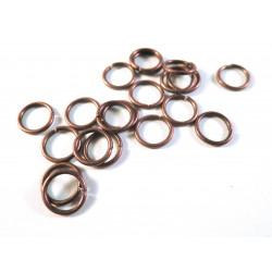 20 kupfer Biegeringe mit einem Durchmesser von 8mm Stärke 1mm rund kupferfarben - kupfer Schmucktzubehör