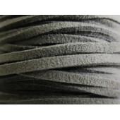 1m graues Wildlederband 2,5mm graues Kunstlederband für Halsband - Schmuckzubehör Lederband
