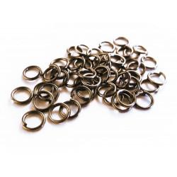 50x bronze Biegering 5mm Stärke 0,9mm rund bronzefarben - bronze Schmucktzubehör