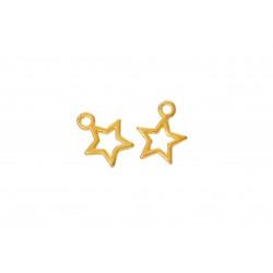 5x gold Stern Anhänger ca. 13x10mm Schmuckanhänger Weihnachten - Schmuckzubehör Anhänger