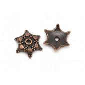2x filigrane kupfer Perlenkappen ca. 18x16mm kupferfarbene Perlen Kappen - kupfer Schmuckzubehör