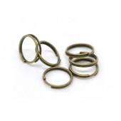 10x bronze Spaltringe 10mm rund bronzefarbene Spaltringe - bronze Schmuckzubehör