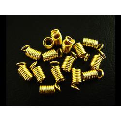 10x gold Spiralendkappe 8x4mm gold Endkappen gold Einklebhülsen - gold Schmuckzubehör