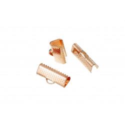10x Rosegold Bandklemme 16mm rose goldfarben - Rosegold Schmuckzubehör