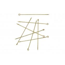 20 lange gold Kettelstifte 60mm Stärke 1mm goldfarben Schmuckdraht mit Öse - Schmuckzubehör