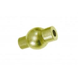 1x mattgold Magnet Verschluss 9x16mm Innen 3mm gold Verschluss zum Einkleben Zylinder - gold Schmuckzubehör