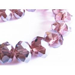 10x amethyst Kristallglasperlen 10x7mm geschliffene mit AB-Effekt - Schmuckzubehör Kristallglasperlen