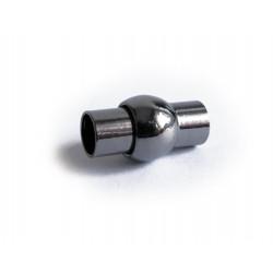 1x gunmetal Magnet Verschluss 9x16,5mm innen 5mm Verschluss zum Einkleben Zylinder - gunmetal Schmuckzubehör