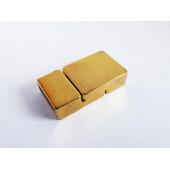 1x gold Magnet Verschluss 23x13x6mm gold Verschluss zum Einkleben - Schmuckzubehör