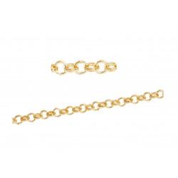 50cm KC Gold Kette 2mm KC Gold Gliederkette KC Gold Schmuckkette - KC Gold Schmuckzubehör Schmuckkette