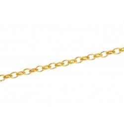 50cm gold Kette 3x4mm gold Gliederkette gold Schmuckkette - gold Schmuckzubehör
