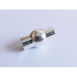 1x hellsilber Magnet Verschluss 9x16.5mm innen 5mm platinfarbener Verschluss zum Einkleben Zylinder - Schmuckzubehör