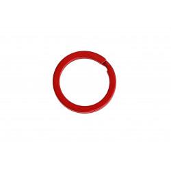 Roter Schlüsselring 25x2mm Ring in rot metallic stabil und schlicht - Schlüsselanhänger selber machen