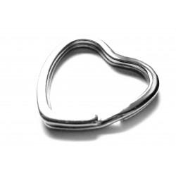 Schlüsselring Herz 30x31mm hellsilber stabil und massiv - Schlüsselanhänger selber machen