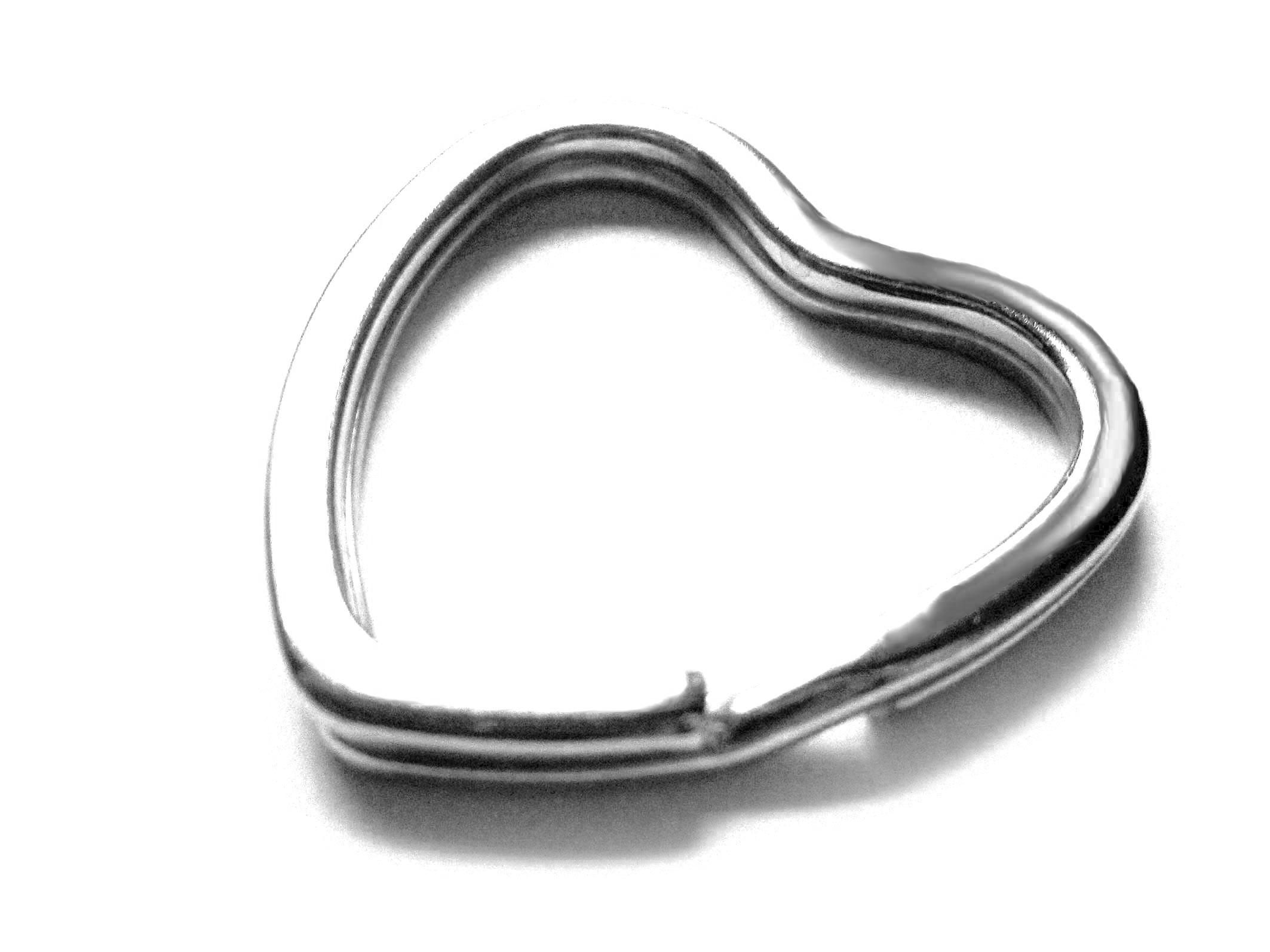 Schlsselring Herz 30x31mm Silber Oder Hellsilber Stabil Und Massiv Schlsselanhnger  Selber Machen   Schlsselanhnger Selber Machen
