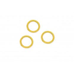10x gold Ring 15mm 1,4mm Stärke geschlossen rund goldfarben - Schmuckzubehör