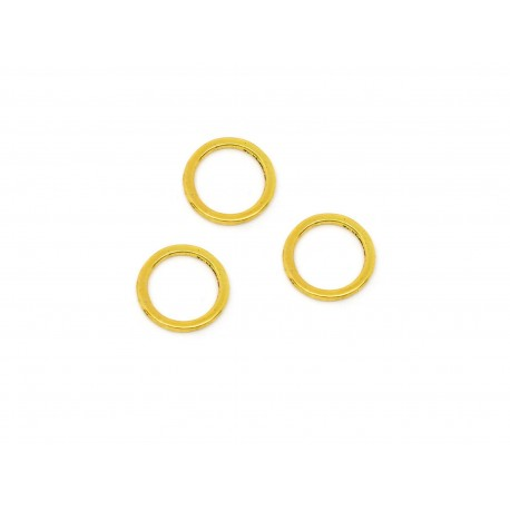 10x gold Ring 15mm Stärke 1,4mm geschlossen rund goldfarben - Schmuckzubehör