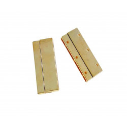 1x gold Magnet Verschluss 42x17x5mm Innen 40x2mm gold Einklebverschluss - gold Schmuckzubehör