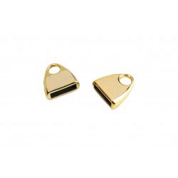 1x gold Endkappe 14x13mm innen 9,5x2,5mm zum Einkleben gold Einklebkappe - Schmuckzubehör Endkappe