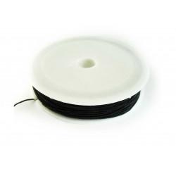 20m Gummiband 0,6 mm Schwarze Perlenschnur