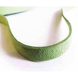 1m hellgrünes Kunstlederband 10mm hellgrünes Schmuckband in Wildlederoptik für Armbänder - Schmuckzubehör Lederband