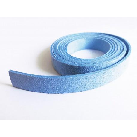 1m hellblaues Kunstlederband 10mm hellblaues Schmuckband in Wildlederoptik für Armbänder - Schmuckzubehör Lederband
