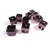 4x Lila 10x10mm Kristallglas Würfel Perlen Cubes - Glasschmuck Schmuckzubehör