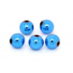 8x blaue Acryl Perle 7mm glatt Weihnachten blaue Acrylperlen - Schmuckzubehör