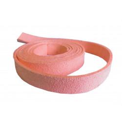 1m rosa Kunstlederband 10x1mm rosa Schmuckband in Wildlederoptik für Armbänder - Schmuckzubehör Lederband