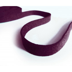 1m auberginefarbenes Kunstlederband 10x1mm aubergine Schmuckband in Wildlederoptik für Armbänder - Schmuckzubehör Lederband