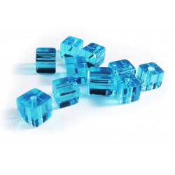 10x Türkis Kristallglas Würfel Perlen 8 x 8 mm