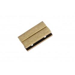1x bronze Magnet Verschluss 30x18x7mm Innen 30x3,5mm bronze Einklebverschluss - gold Schmuckzubehör