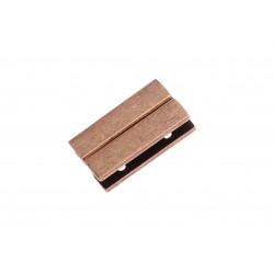 1x kupfer Magnet Verschluss 30x18x7mm Innen 30x3,5mm kupfer Einklebverschluss - kupfer Schmuckzubehör