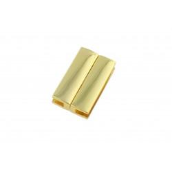 1x gold Magnet Verschluss 30x18x7mm Innen 30x3,5mm gold Einklebverschluss - gold Schmuckzubehör