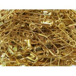 500x gold Sicherheitsnadeln 19x5mm goldfarbene Sicherheitsnadeln - Schmuckzubehör