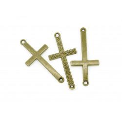 1x bronze Kreuz Schmuckverbinder ca. 44x21mm bronze Zwischenstück - bronze Schmuckzubehör