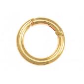1x runder gold Ringverschluss ca. 25x4mm gold Karabinerhaken - Schmuckzubehör