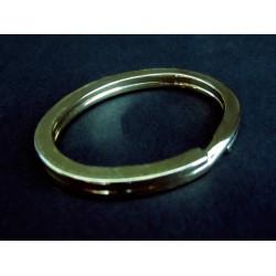 Gold Schlüsselring oval 36x28mm vermessingter Ring stabil und massiv - Schlüsselanhänger selber machen