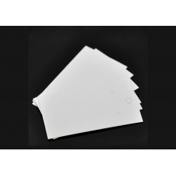 20 weisse Schmuckkarten 90x50mm Papier ohne Schrift Schmuck Display Ohrringe - Schmuckzubehör